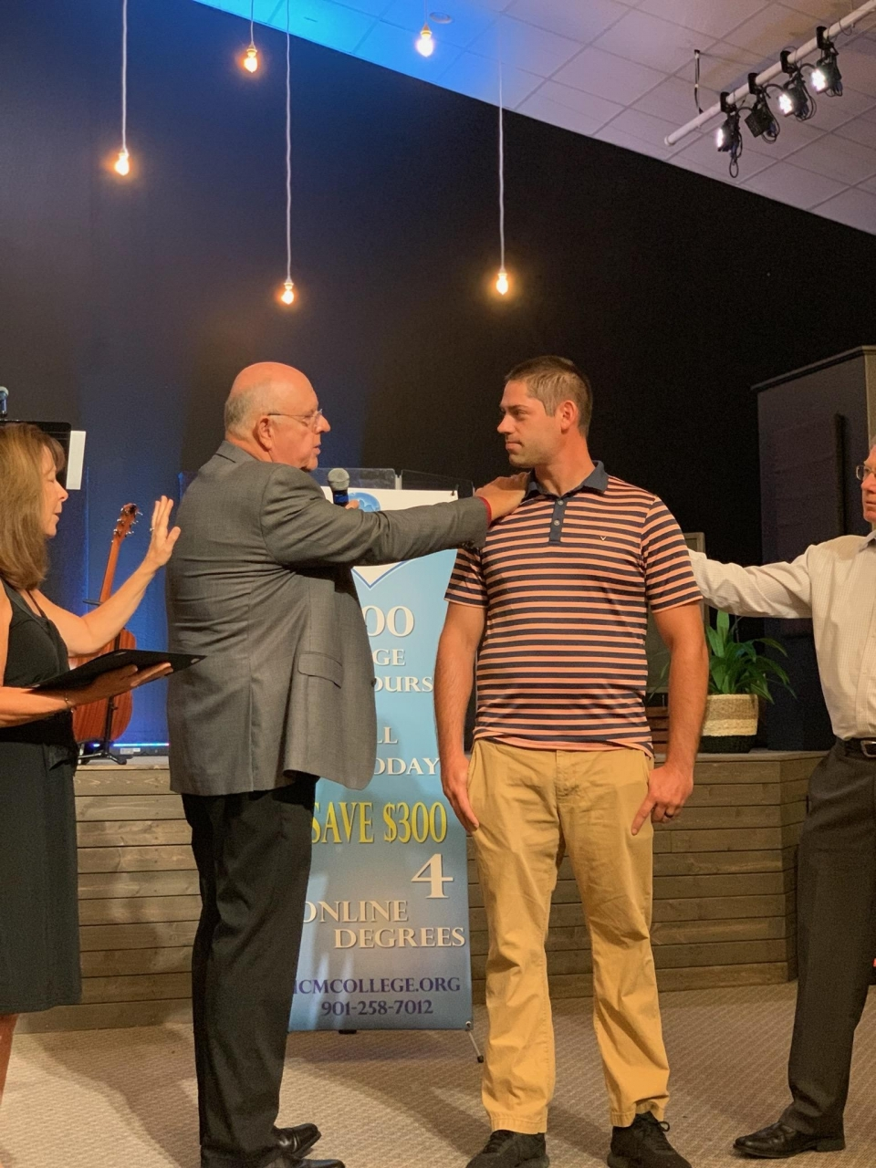 It was an honor and a privilege to licensed and ordained Jake Snavely last Sunday at Freedom Fellowship Church in Orlando.  Jake worked very hard thru the International College of ministry license and ordination program . We licensed and ordained Jake as a minister of the Gospel of Jesus Christ. I know that Jake will be a very worthy representative of our savior.  Congratulations to Jake!